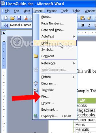 Ghép file Word 2003