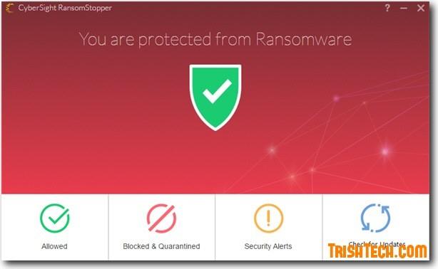 Phần mềm CyberSight RansomStopper