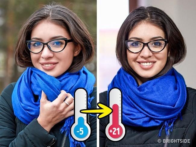 Mẹo chống mờ kính khi nhiệt độ thay đổi.