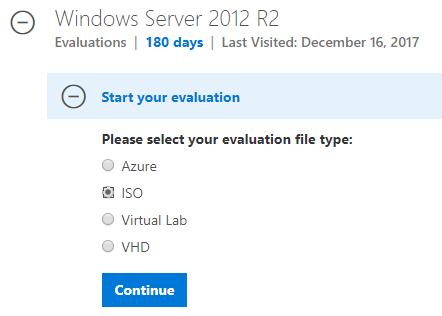 Nhấp vào Continue để tải file ISO