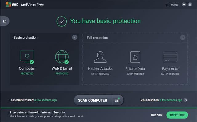 Phần mềm chống spyware AVG AntiVirus Free