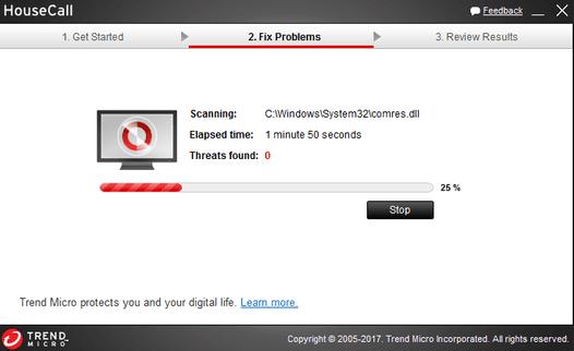 Phần mềm chống spyware Trend Micro HouseCall