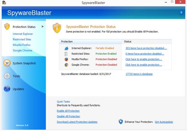Phần mềm chống spyware SpywareBlaster
