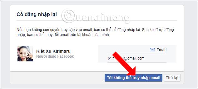 Không thể truy cập email đăng ký Facebook