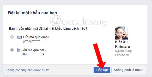Lấy lại Facebook qua số điện thoại