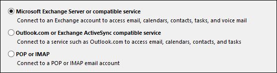 Chọn máy chủ mail