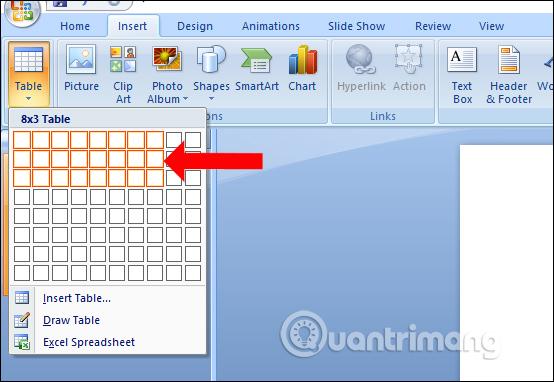 MS PowerPoint 2007 - Bài 8: Chèn bảng trong PowerPoint - Ảnh minh hoạ 2