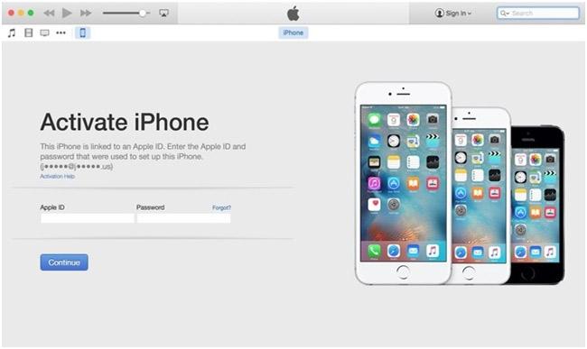 Cách khắc phục lỗi không thể kích hoạt iPhone.