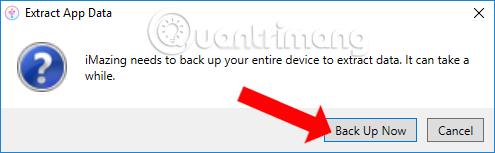 Click Backup