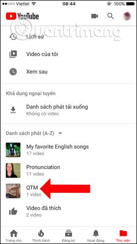 Danh sách các playlist video