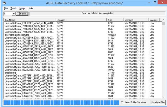 Phần mềm khôi phục dữ liệu ADRC Data Recovery Tools