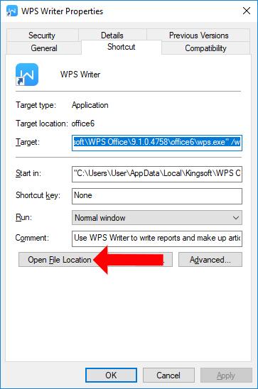 Tìm thư mục wpscenter