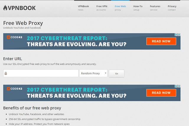 Máy chủ proxy VPNBook