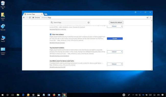 Cách bật tính năng bảo mật Site Isolation trên Chrome