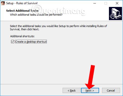 Tạo lối tắt đến Rules of Game Survival