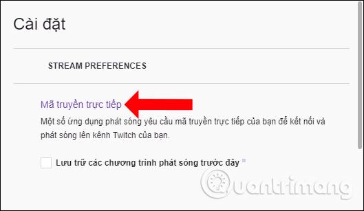 Mã truyền trực tiếp trên Twitch