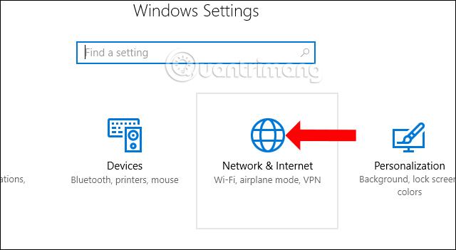 Tùy chỉnh mạng trên Windows 10