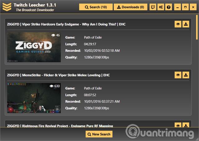 Phần mềm Twitch Leecher