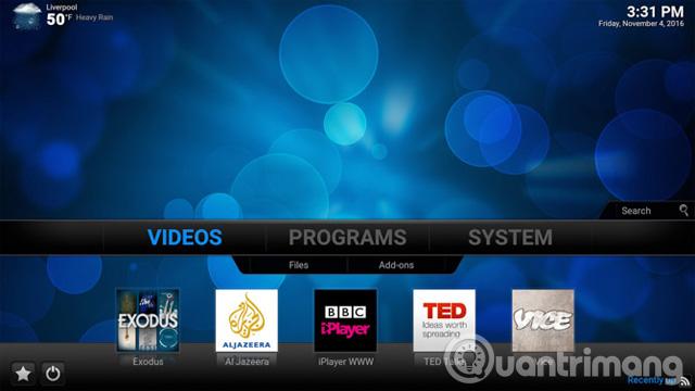 Hệ thống media center Kodi