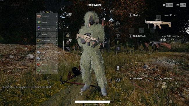 Phím tắt PlayerUnknown's Battlegrounds