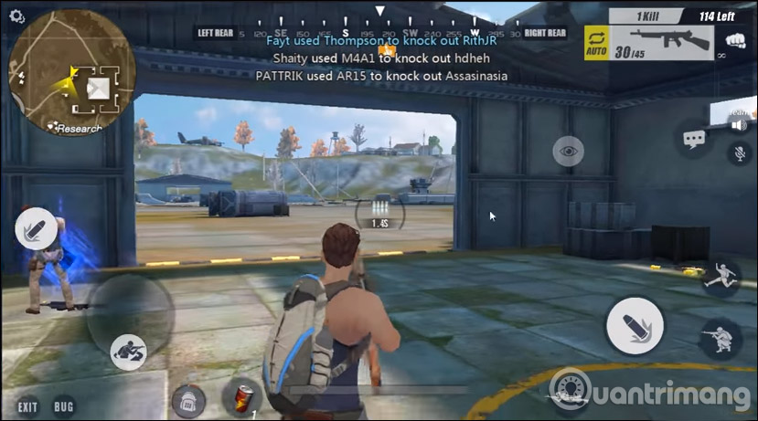 Giao diện chơi Rules Of Survival
