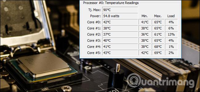 Làm thế nào để kiểm soát nhiệt độ CPU của máy tính?