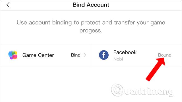 Liên kết tài khoản Facebook