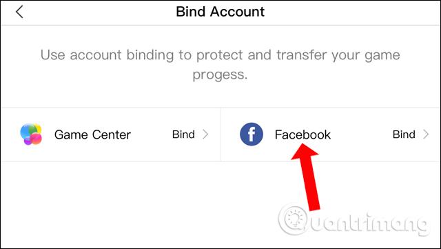 Nhấn chọn Facebook