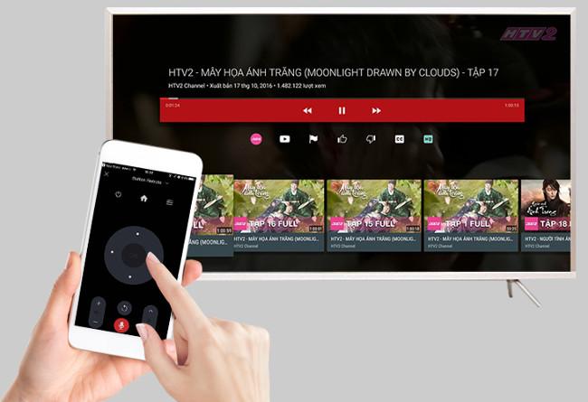 Dùng ứng dụng điều khiển tivi bằng điện thoại