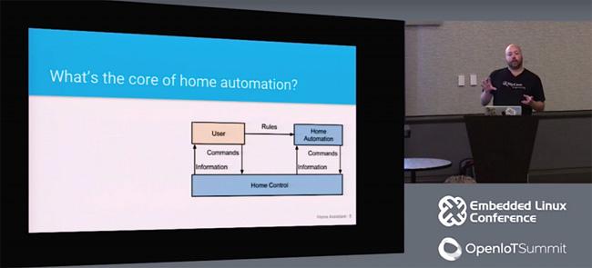 Paulus Schoutsen thuyết trình về tự động hóa nhà tại OpenIoT Summit