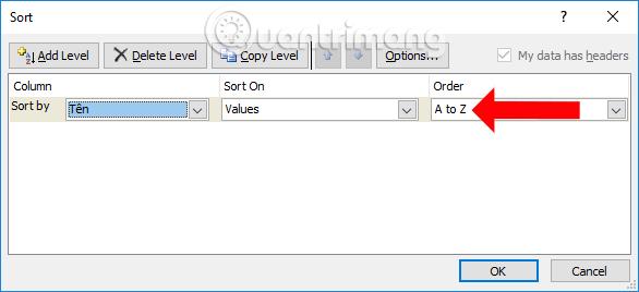 Lọc dữ liệu Excel