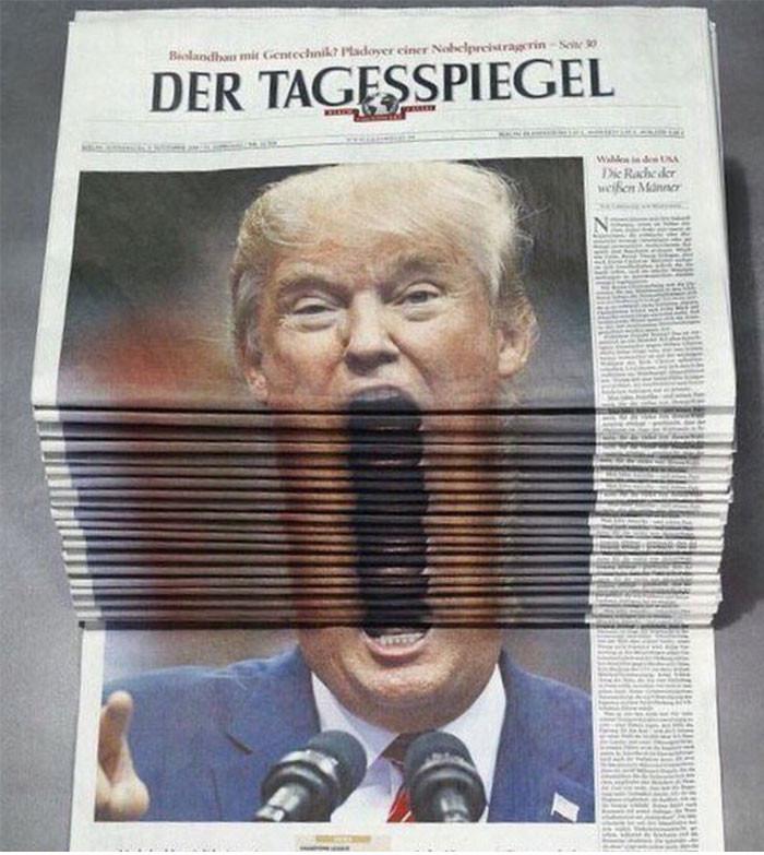 Nghệ thuật xếp báo là đây!