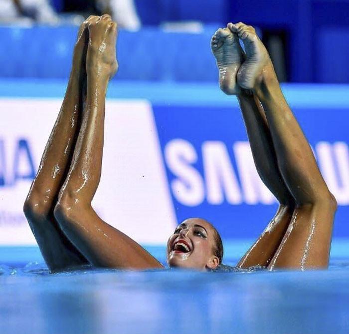 Múa nghệ thuật dưới nước.