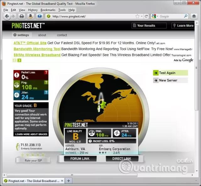 Trang pingtest.net