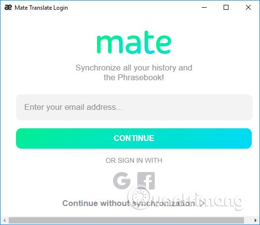 Đăng ký tài khoản Mate Translate