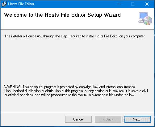 Cài đặt Hosts File Editor