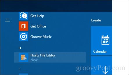 Khởi chạy ứng dụng Hosts File Editor