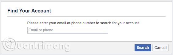 Tìm tài khoản