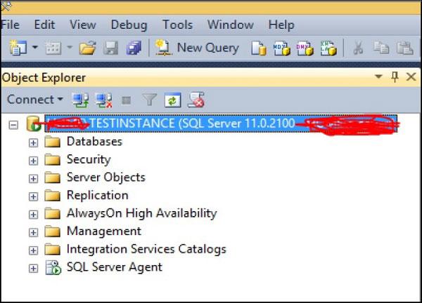 Bản TESTINSTANCE của SQL Server