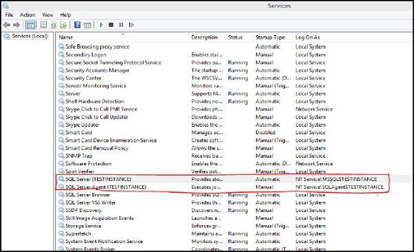 Tìm dịch vụ trong hộp thoại Run của Windows