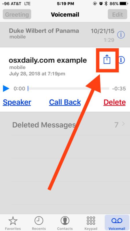 """Nội dung cuộc ghi âm sẽ cuất hiện trong """"Voicemail"""" trong ứng dụng Phone của iPhone"""