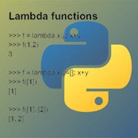 Hàm vô danh, Lambda trong Python