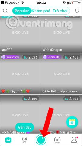 Giao diện Bigo Live