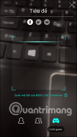 Giao diện quét mã QR