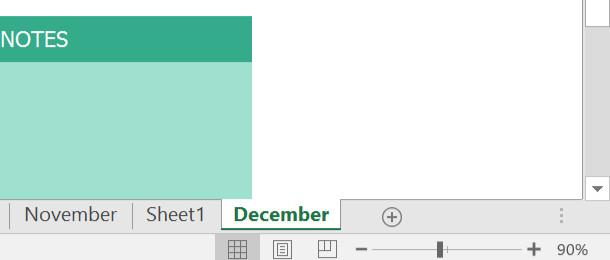 Nhấp vào bất kỳ nơi nào bên ngoài tab bảng tính hoặc nhấn Enter trên bàn phím