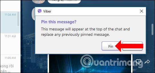 Cách ghim tin nhắn nhóm chat trên Viber PC - Quantrimang com