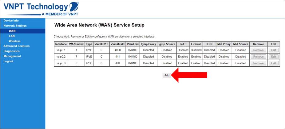 Cách cấu hình modem Gpon IGATE GW040 sang chế độ Bridge
