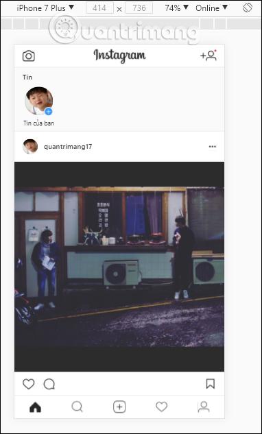 Chỉnh ảnh Instagram trên máy tính