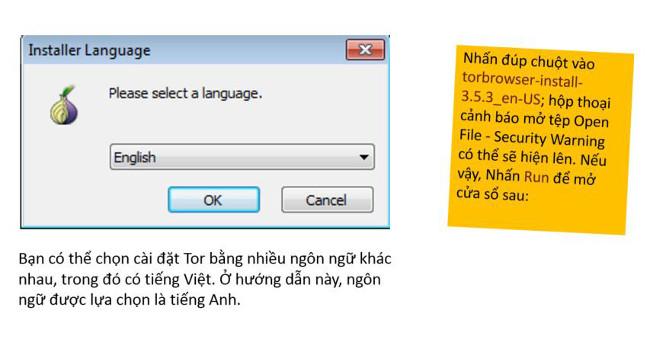 Chọn ngôn ngữ để sử dụng
