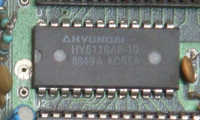 Một chip RAM tĩnh từ một bản sao của Nintendo Entertainment System (2K x 8 bit)